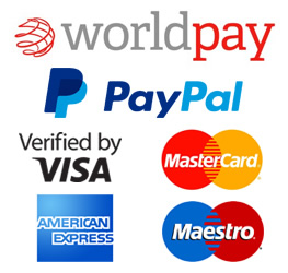 image showing worldpay payment options with paypal,visa,mastercard,american express,maestro