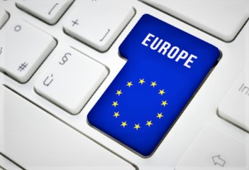 "image of a keyboard with a key worded ""europe"""