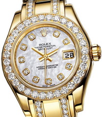 image of a sparking Rolex gold watch