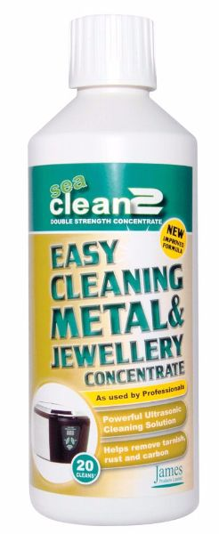 sea clean 2 organic jewellery cleaning fluid (500ml)
