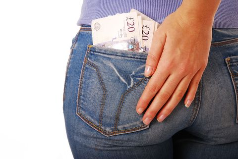 20 pound note in jeans pocket in exchange for photos of our ultrasonic cleaners being used