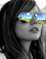 image of a girl wearing sunglasses